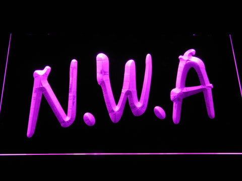 Image of NWA LED Neon Sign - Purple - SafeSpecial