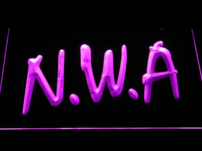 NWA LED Neon Sign - Purple - SafeSpecial