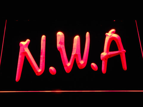 NWA LED Neon Sign - Red - SafeSpecial