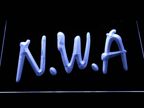 Image of NWA LED Neon Sign - White - SafeSpecial
