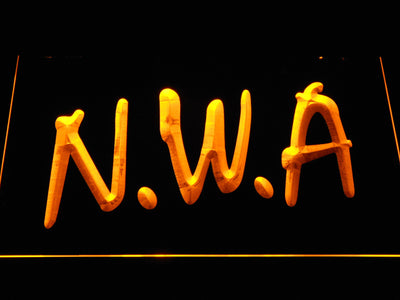 NWA LED Neon Sign - Yellow - SafeSpecial