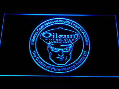 Oilzum Motor Oil LED Neon Sign - Blue - SafeSpecial