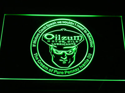 Oilzum Motor Oil LED Neon Sign - Green - SafeSpecial