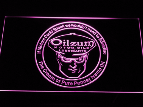 Image of Oilzum Motor Oil LED Neon Sign - Purple - SafeSpecial