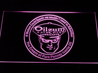 Oilzum Motor Oil LED Neon Sign - Purple - SafeSpecial