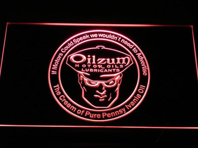 Oilzum Motor Oil LED Neon Sign - Red - SafeSpecial