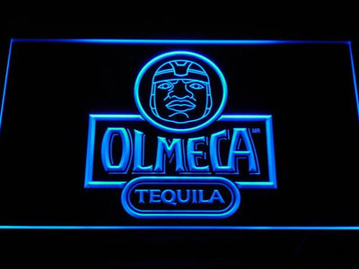 Olmeca Tequila LED Neon Sign - Blue - SafeSpecial