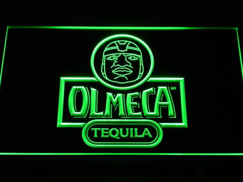 Image of Olmeca Tequila LED Neon Sign - Green - SafeSpecial