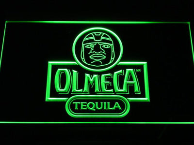 Olmeca Tequila LED Neon Sign - Green - SafeSpecial