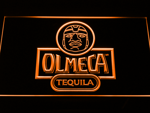 Image of Olmeca Tequila LED Neon Sign - Orange - SafeSpecial