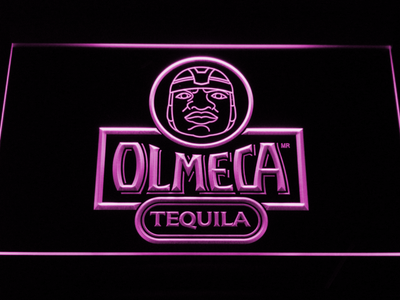 Olmeca Tequila LED Neon Sign - Purple - SafeSpecial