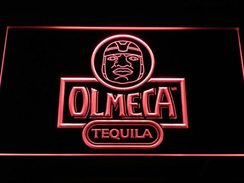Image of Olmeca Tequila LED Neon Sign - Red - SafeSpecial