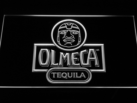 Image of Olmeca Tequila LED Neon Sign - White - SafeSpecial