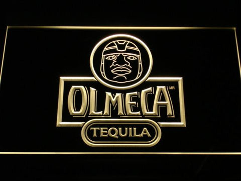 Image of Olmeca Tequila LED Neon Sign - Yellow - SafeSpecial