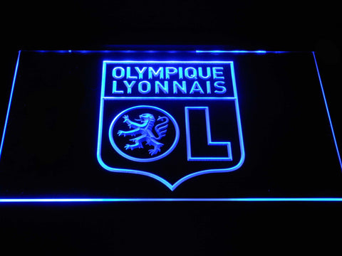 Image of Olympique Lyonnais LED Neon Sign - Blue - SafeSpecial