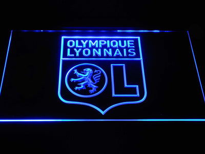 Olympique Lyonnais LED Neon Sign - Blue - SafeSpecial