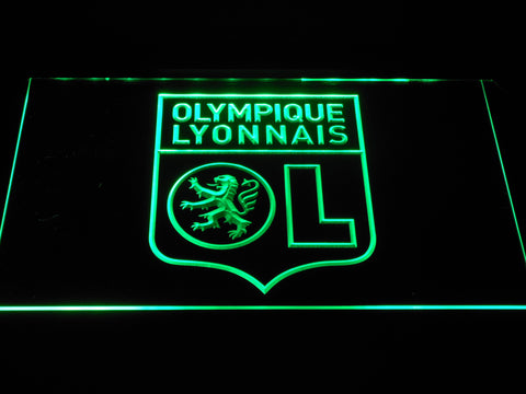 Image of Olympique Lyonnais LED Neon Sign - Green - SafeSpecial