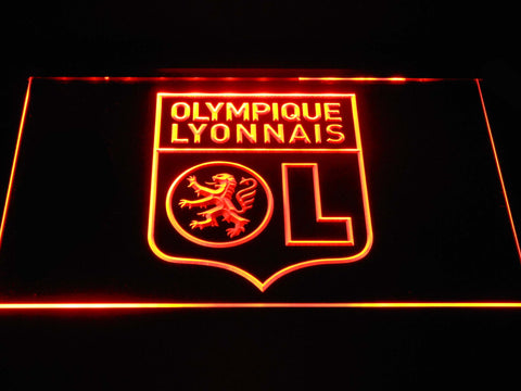 Image of Olympique Lyonnais LED Neon Sign - Orange - SafeSpecial
