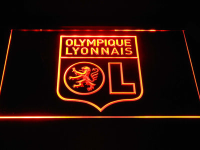 Olympique Lyonnais LED Neon Sign - Orange - SafeSpecial