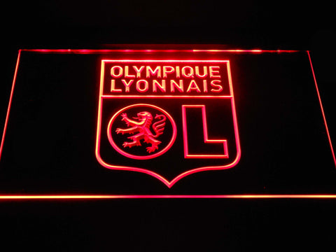 Image of Olympique Lyonnais LED Neon Sign - Red - SafeSpecial