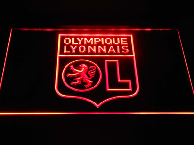 Olympique Lyonnais LED Neon Sign - Red - SafeSpecial