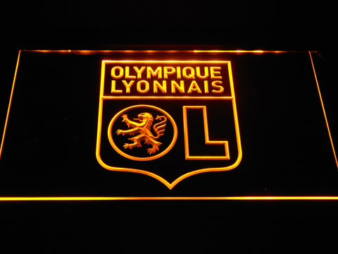 Image of Olympique Lyonnais LED Neon Sign - Yellow - SafeSpecial