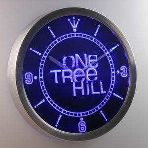 One Tree Hill LED Neon Wall Clock - Blue - SafeSpecial