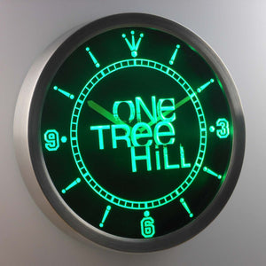One Tree Hill LED Neon Wall Clock - Green - SafeSpecial