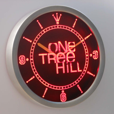 Image of One Tree Hill LED Neon Wall Clock - Red - SafeSpecial