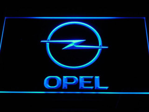 Image of Opel LED Neon Sign - Blue - SafeSpecial