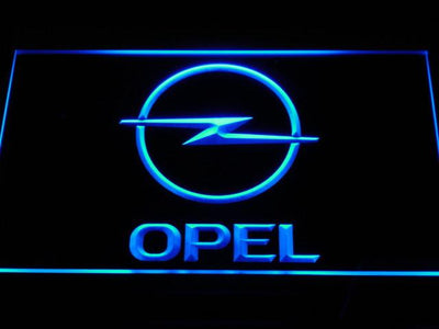 Opel LED Neon Sign - Blue - SafeSpecial