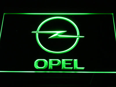Opel LED Neon Sign - Green - SafeSpecial