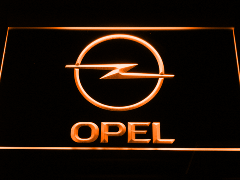 Image of Opel LED Neon Sign - Orange - SafeSpecial