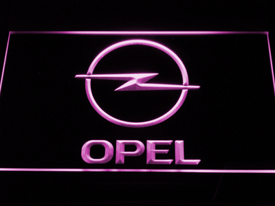 Opel LED Neon Sign - Purple - SafeSpecial