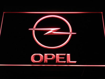 Opel LED Neon Sign - Red - SafeSpecial