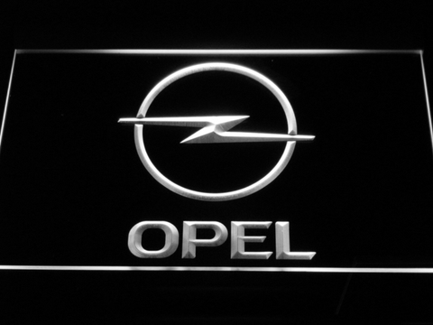 Image of Opel LED Neon Sign - White - SafeSpecial