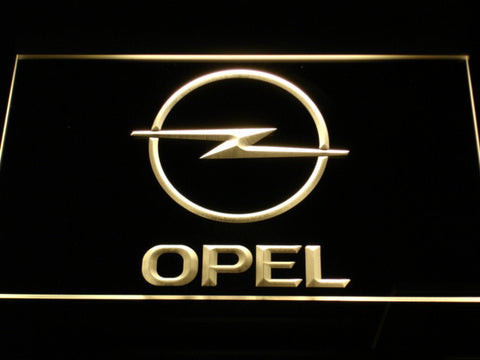 Image of Opel LED Neon Sign - Yellow - SafeSpecial