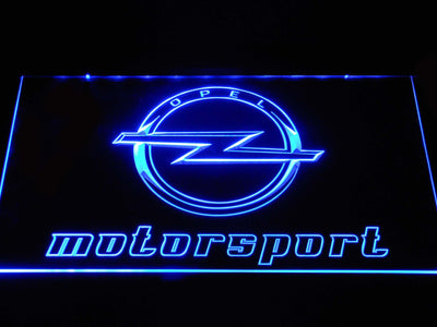 Opel Motorsport LED Neon Sign - Blue - SafeSpecial
