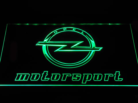 Image of Opel Motorsport LED Neon Sign - Green - SafeSpecial