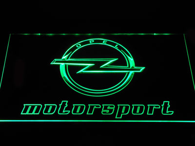 Opel Motorsport LED Neon Sign - Green - SafeSpecial