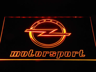 Opel Motorsport LED Neon Sign - Orange - SafeSpecial