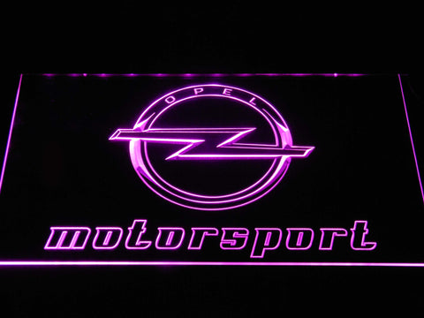 Image of Opel Motorsport LED Neon Sign - Purple - SafeSpecial