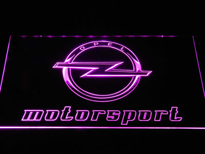 Opel Motorsport LED Neon Sign - Purple - SafeSpecial