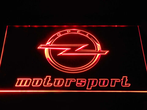 Image of Opel Motorsport LED Neon Sign - Red - SafeSpecial