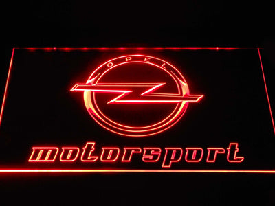 Opel Motorsport LED Neon Sign - Red - SafeSpecial