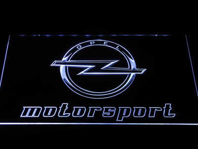 Opel Motorsport LED Neon Sign - White - SafeSpecial