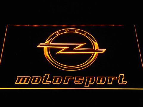Image of Opel Motorsport LED Neon Sign - Yellow - SafeSpecial