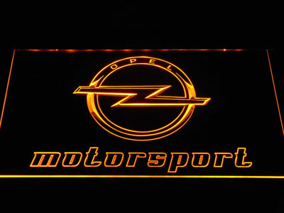 Opel Motorsport LED Neon Sign - Yellow - SafeSpecial