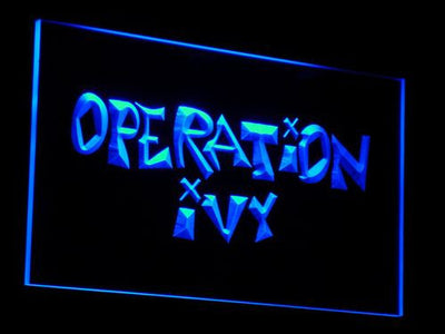 Operation Ivy LED Neon Sign - Blue - SafeSpecial