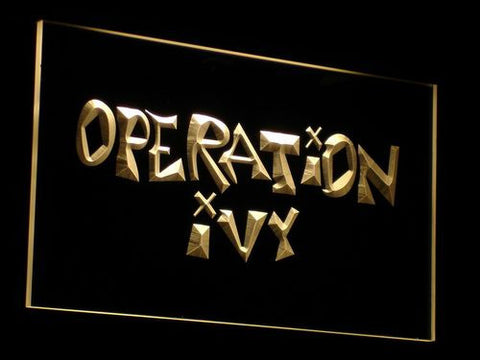 Operation Ivy LED Neon Sign - Yellow - SafeSpecial